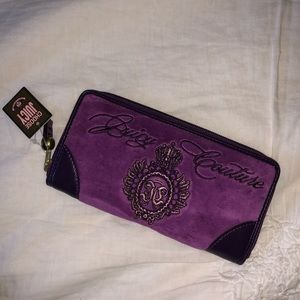 Juicy Couture Purple Velour Wallet